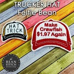 Trucker Hat Feltie - THREE sizes INCLUDED! BONUS Multis!!!